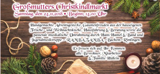 Oma`s Christkindlmarkt am Weiherberg