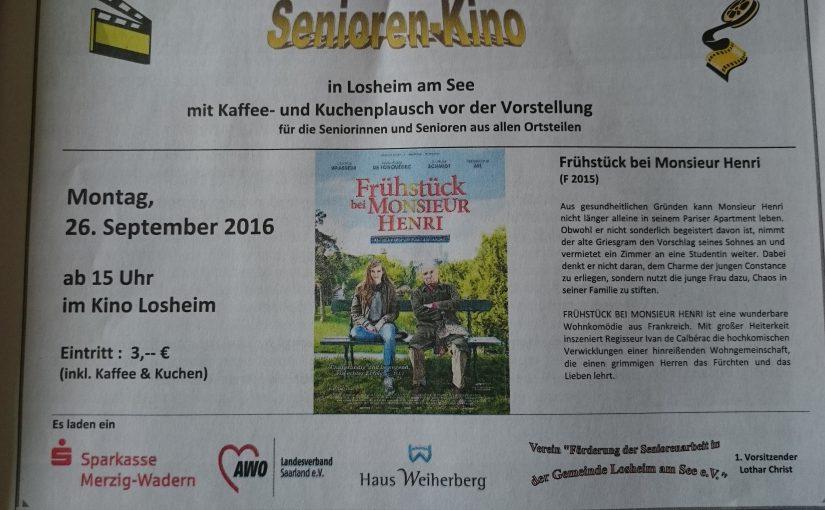 Seniorenkino in Losheim